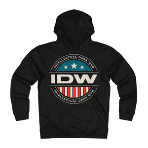Unisex Heavyweight Fleece Hoodie - IDW Badge - Color - White Border