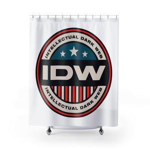 Shower Curtains - IDW Badge - Color - Red Border