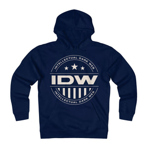 Unisex Heavyweight Fleece Hoodie - IDW Badge - Grey