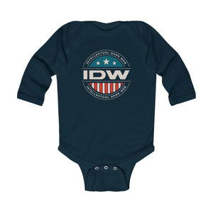 Infant Long Sleeve Bodysuit - IDW Badge - Color - White Border