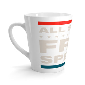 Latte mug - All Speech Is Free Speech