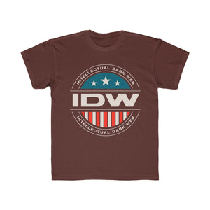 Kids Regular Fit Tee - IDW Badge - Color - White Border