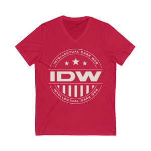Unisex Jersey Short Sleeve V-Neck Tee - Grey IDW Badge