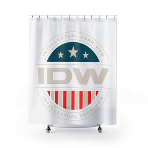 Shower Curtains - IDW Badge - Color - White Border