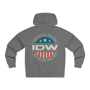 Men's Lightweight Pullover Hooded Sweatshirt - IDW Badge - Color - Grey Border