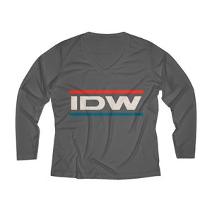 Women's Long Sleeve Performance V-neck Tee - IDW Murica