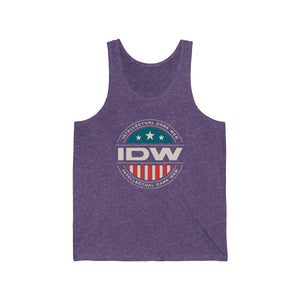Unisex Jersey Tank - IDW Badge - Color - White Border
