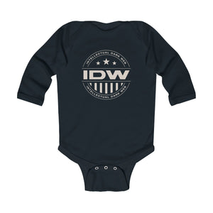 Infant Long Sleeve Bodysuit - IDW Badge - Grey