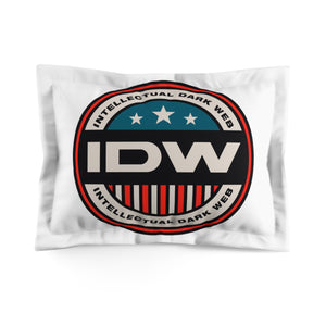 Microfiber Pillow Sham - IDW Badge - Color - Red Border