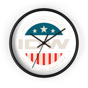 Wall Clock - IDW Badge - Color - White Border