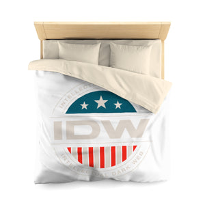 Microfiber Duvet Cover - IDW Badge - Color - White Border