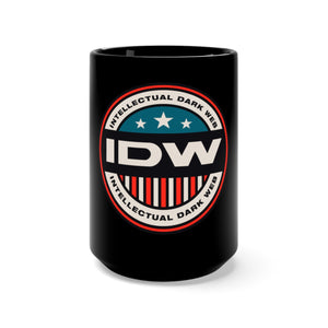 Black Mug 15oz - IDW Badge - Color - Red Border