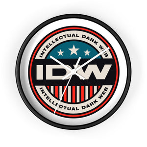 Wall Clock - IDW Badge - Color - Red Border