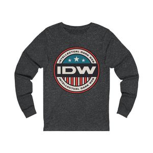 Unisex Jersey Long Sleeve Tee - IDW Badge - Color - Red Border