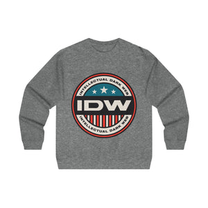Men's Midweight Crewneck Sweatshirt - IDW Badge - Color - Red Border