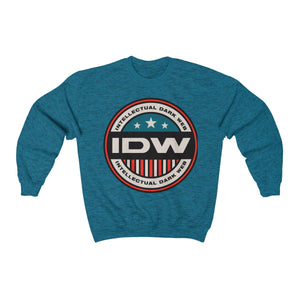 Unisex Heavy Blend™ Crewneck Sweatshirt - IDW Badge - Color - Red Border