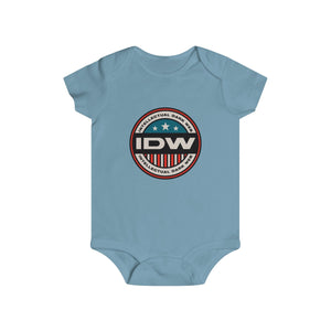 Infant Rip Snap Tee - IDW Badge - Color - Red Border