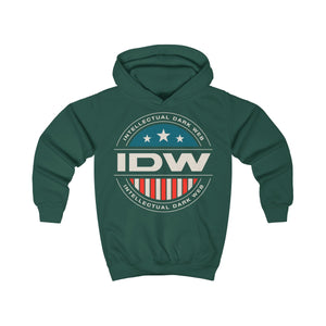 Kids Hoodie - IDW Badge - Color - White Border