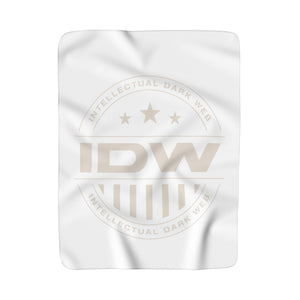 Sherpa Fleece Blanket - IDW Badge - Grey