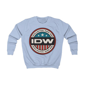 Kids Sweatshirt - IDW Badge - Color - Red Border
