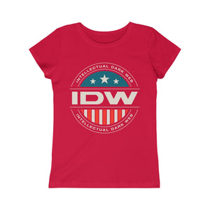 Girls Princess Tee - IDW Badge - Color - White Border