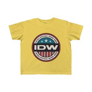 Kid's Fine Jersey Tee - IDW Badge - Color - Red Border