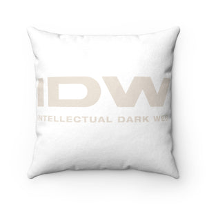 Faux Suede Square Pillow - IDW Spelled Out