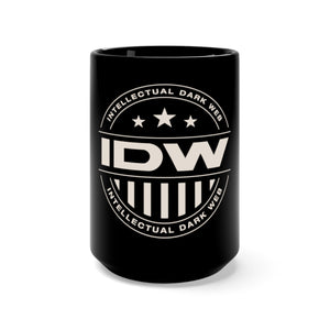 Black Mug 15oz - IDW Badge - Grey