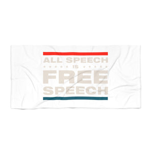 Beach Towel - All Speech Is Free Speech