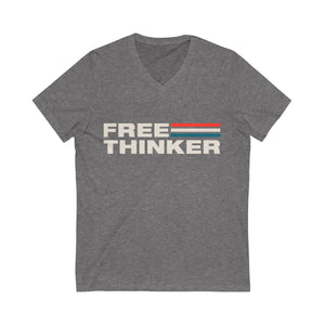 Unisex Jersey Short Sleeve V-Neck Tee - Free Thinker