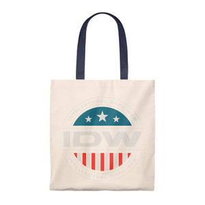 Tote Bag - Vintage - IDW Badge - Color - White Border