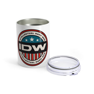 Tumbler 10oz - IDW Badge - Color - Red Border