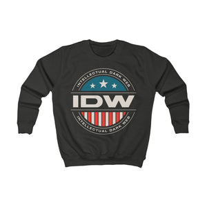 Kids Sweatshirt - IDW Badge - Color - White Border