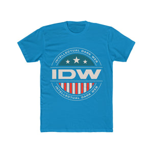 Men's Cotton Crew Tee - Color IDW Badge - White Border