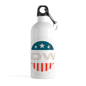 Stainless Steel Water Bottle - IDW Badge - Color - White