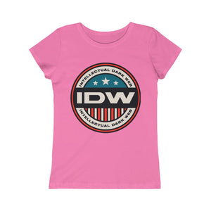 Girls Princess Tee - IDW Badge - Color - Red Border