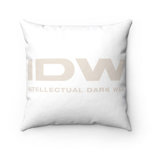 Spun Polyester Square Pillow - IDW Spelled Out