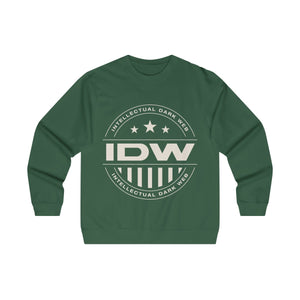 Men's Midweight Crewneck Sweatshirt - IDW Badge - Grey