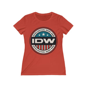 Women's Missy Tee - IDW Badge - Color - Red Border