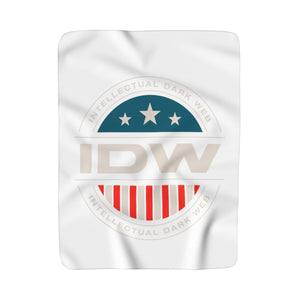 Sherpa Fleece Blanket - IDW Badge - Color - White Border
