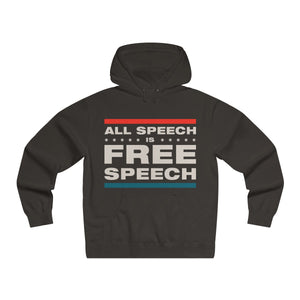 Men's Lightweight Pullover Hooded Sweatshirt - All Speech Is Free Speech