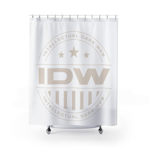 Shower Curtains - IDW Badge - Grey