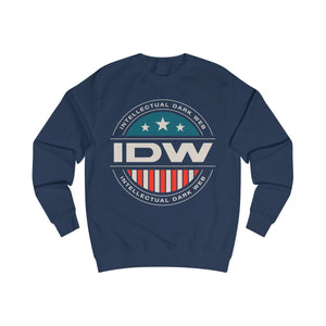 Men's Sweatshirt - IDW Badge - Color - White Border