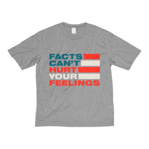 Men's Heather Dri-Fit Tee - Facts Cant Hurt Your Feelings