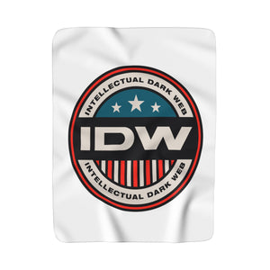 Sherpa Fleece Blanket - IDW Badge - Color - Red Border