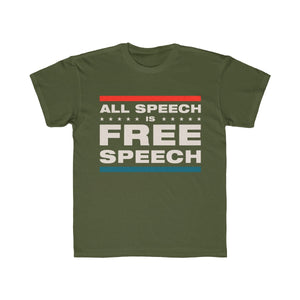 Kids Regular Fit Tee - All Speech Is Free Speech