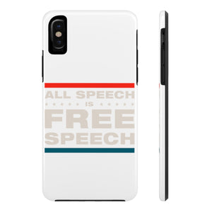 Case Mate Tough Phone Cases - All Speech Is Free Speech