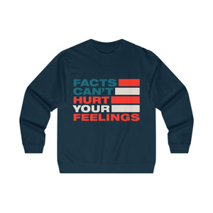 Men's Midweight Crewneck Sweatshirt - Facts Cant Hurt Your Feelings