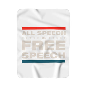 Sherpa Fleece Blanket - All Speech Is Free Speech