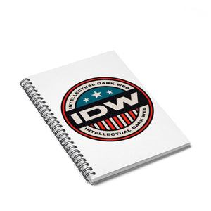 Spiral Notebook - Ruled Line - IDW Badge - Color - Red Border